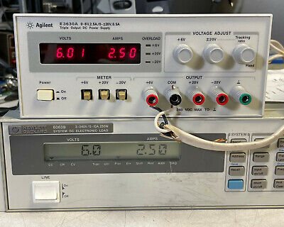 Agilent Hp E3630a Variable Dc Power Supply 6v 2.5a -20v 0.5a - Load Tested