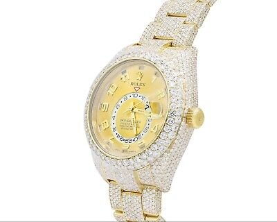 Rolex Sky-Dweller Fully Iced Out Over 25 Carats of Diamonds watch