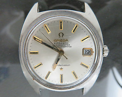 100% Authentic OMEGA Constellation Automatic Chronometer Mens Watch 24J 168.017