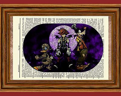 Kingdom Hearts Dictionary Art Print Poster Picture Halloween Town Sora Roxas  (Halloweentown Kingdom Hearts)