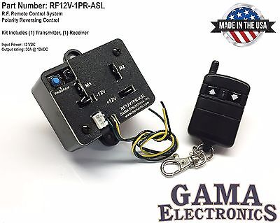 Rf Remote Polarity Reverse Control With Auxiliary Switch Leads - Rf12v1pr-asl