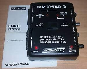 Audio Cable Tester XLR - Soundlab Black G027E (CAD 100) Lansvale Liverpool Area Preview