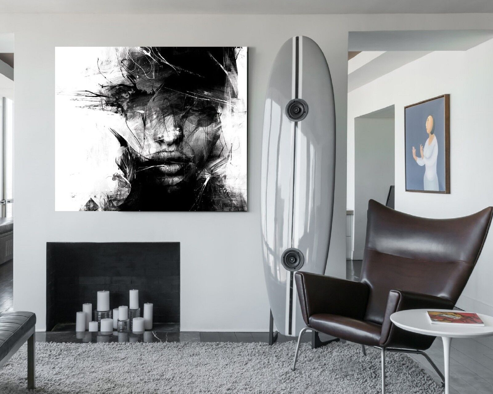 xxl bild abstrakt canvas ikea 120x100x5 loft design leinwand gem lde premi r eur 74 99. Black Bedroom Furniture Sets. Home Design Ideas