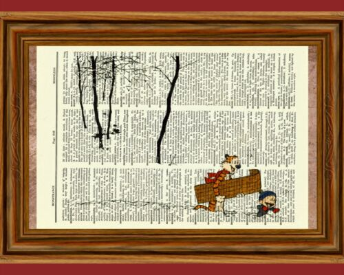 Calvin and Hobbes Dictionary Art Print Book Page Picture Poster Snow Winter