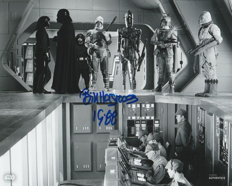 Bill Hargreaves Autograph 8x10 Photo Star Wars IG-88 Signed Zobie COA