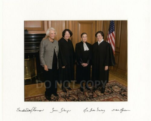 Female Supreme Court Justices Ruth Bader Ginsburg reprint signed 8x10 photo RP