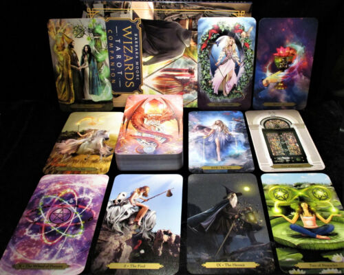 SEALED BRAND NEW ~ VIBRANT WIZARDS TAROT CARDS & BOOK ORACLE RIDER WAITE BASED