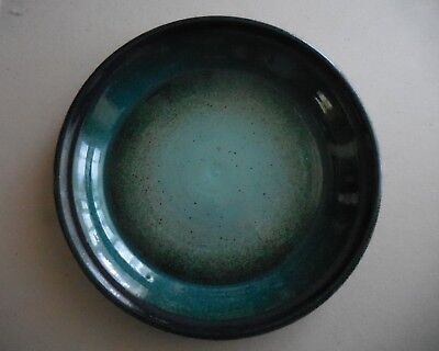 BYERS STONEWARE CHARGER PLATE BLUE GREEN GLAZE 13