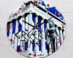 Wall clock GREEK TIME Always late Novelty Home Decor Quartz Top quality 25cm New