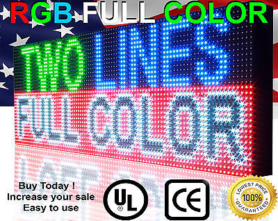 Full Color Programmable 12x38 Semi-outdoor Scrolling Text Image Open Led Sign