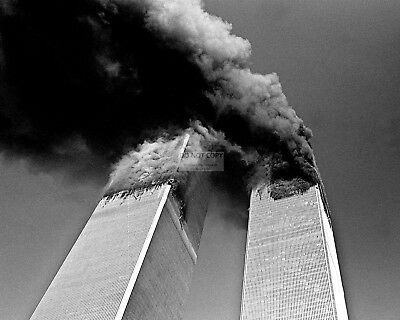 WORLD TRADE CENTER NORTH SOUTH TOWERS ON FIRE SEPTEMBER 11 - 8X10 PHOTO (AA-110) On Fire Photo