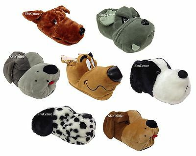 Mens Womens Kids Novelty Funny Scooby Dog Slippers Grey Brown Dalmatian Gift](Funny Mens Slippers)