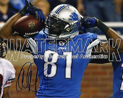 CALVIN JOHNSON Megatron Detroit Lions SIGNED pp 8x10 Photo PROOF