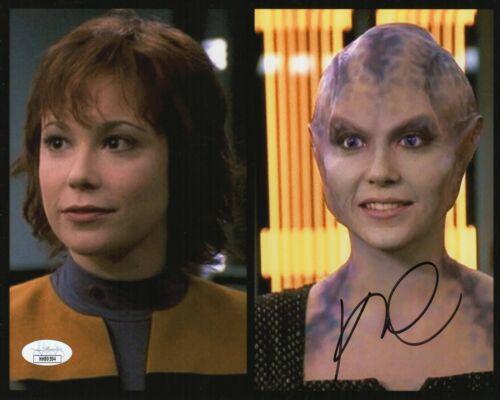 """Kim Rhodes Autograph Signed 8x10 Photo - Star Trek """"Lyndsay Ballard"""" (JSA COA)"""