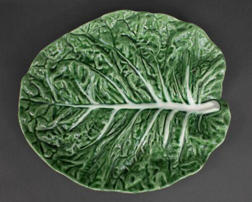 Bordallo Pinheiro Majolica Green Cabbage Serving Platter Made in Portugal