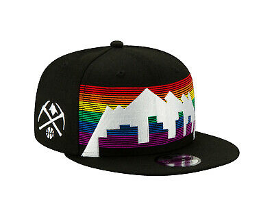 Denver Nuggets New Era 9FIFTY NBA City Edition Snapback Cap Hat Rainbow -