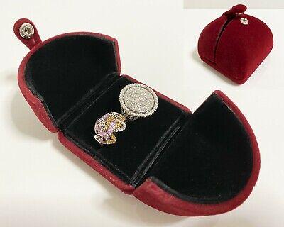 Velvet Jewelry Gift Box Ring Earrings Men Women Christmas Bi