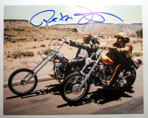 Peter Fonda Signed EASY RIDER 11x14 Photo w/ Dennis Hopper EXACT Proof COA