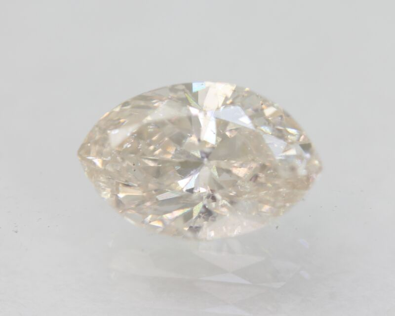 Certified 0.82 Carat G SI2 Marquise Enhanced Natural Loose Diamond 7.84x5.06mm
