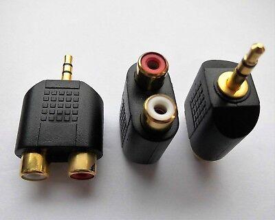 Hifi Audio Adapter 2x Cinch RCA Buchse female 3,5mm Klinke Stereo Stecker male Rca Female Audio Adapter