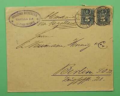 DR WHO 1896 CHILE SANTIAGO TO GERMANY C244505