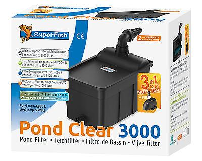 SF Pond Clear 3000 Teichfilter-Set mit UVC und Pumpe für Teiche bis 3000 ltr.