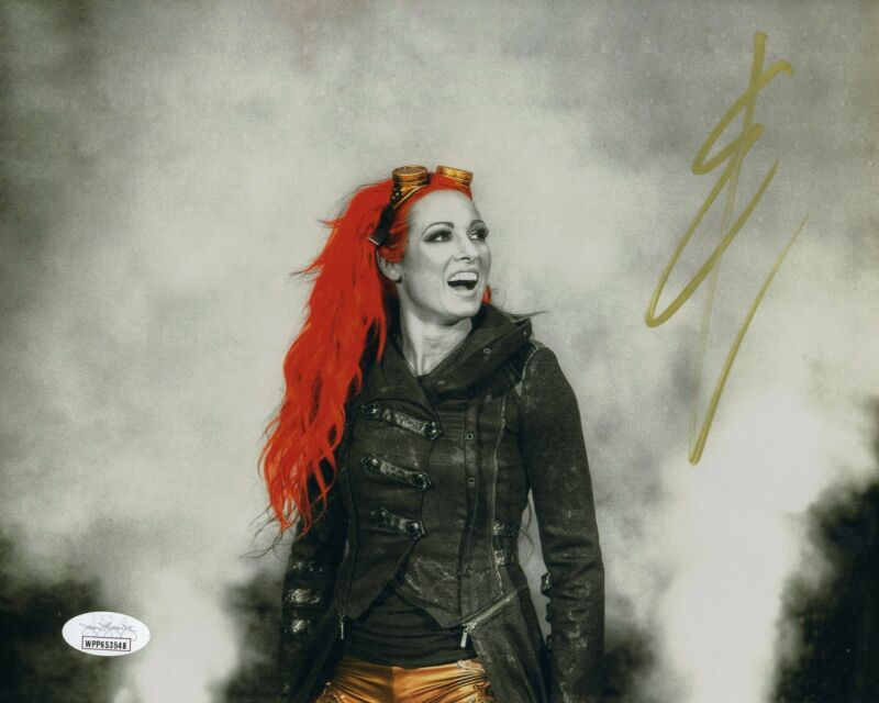 Becky Lynch Autograph 8x10 Photo WWE Womans Champ The Man Signed JSA COA 5