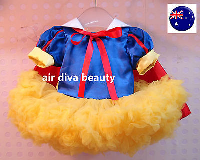 Kids Girls Snow White Costume Halloween With Cape PARTY Dress Tulle Tutu PROP - Halloween Costumes With Tulle