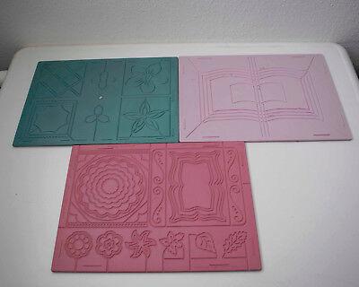 Schablone Board (3 x Prägeboard Tafel Schablone Karten Motive basteln Card Craftin sehe Bilder!)
