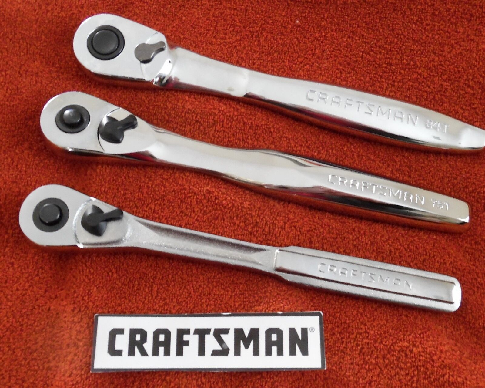 "CRAFTSMAN 1/4"", 3/8"",1/2"" - QUICK RELEASE RATCHETS. SOLD SEPARATELY"