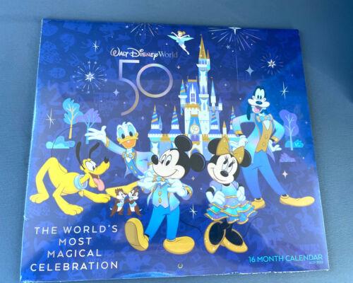 Walt Disney World 50th Anniversary Celebration 2021 - 2022 16 Month Calendar NEW