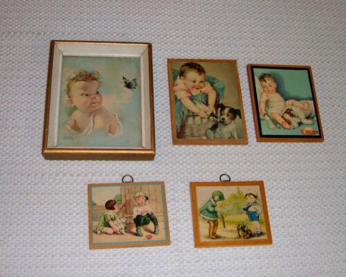 Lot of 5 Vintage NURSERY Children