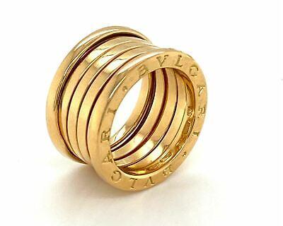 Bvlgari B.zero1 Wide 5 Band 18k Yellow Gold Ring Size 53