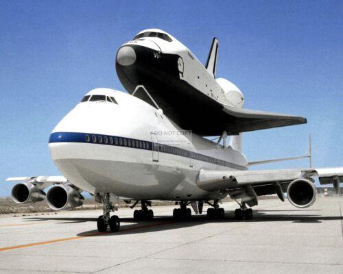 SPACE SHUTTLE ENTERPRISE ATOP THE SHUTTLE CARRIER AIRCRAFT - 8X10 PHOTO (EP-085)