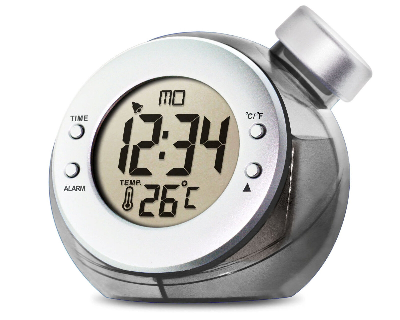 Water Powered LCD ALARM CLOCK Thermometer Calendar H2O Power energised by water