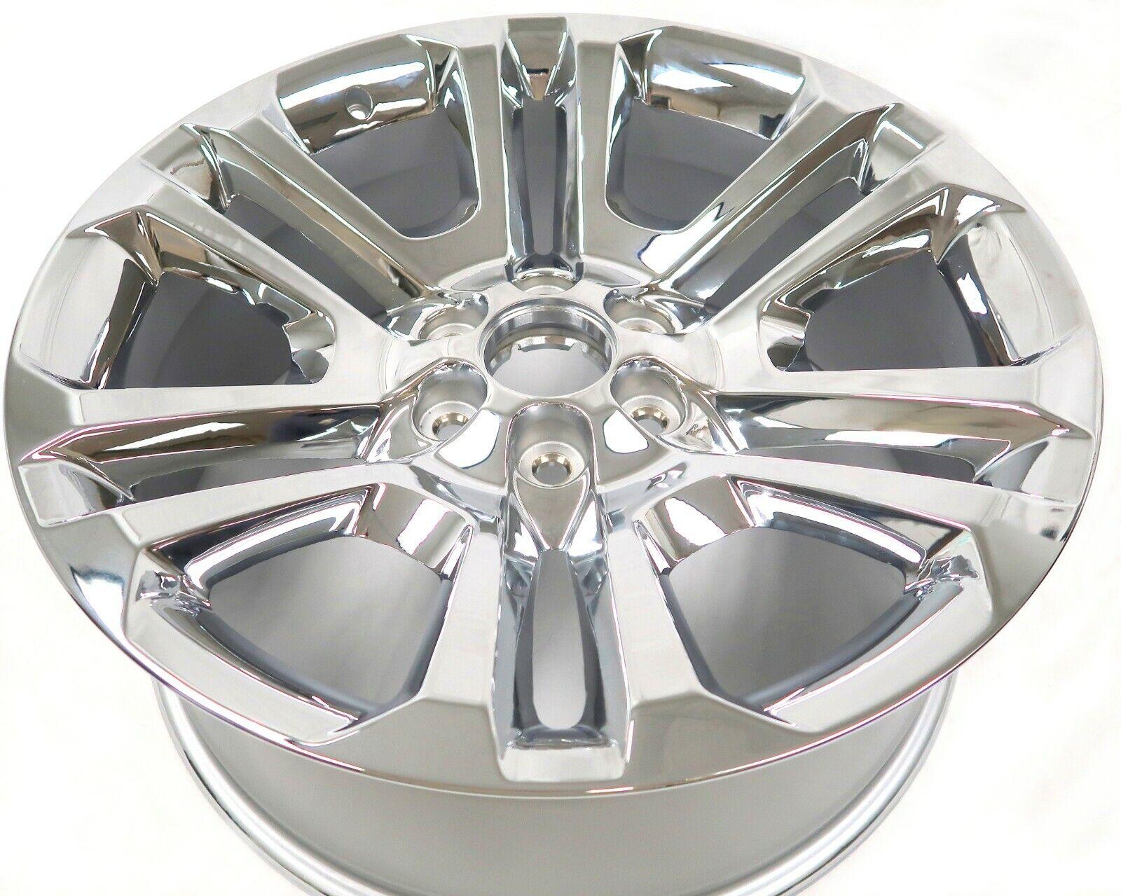84346101 OEM 22 x 9 inch 6-Split-Spoke Aluminum Chrome Finished Wheels 4 Set NEW