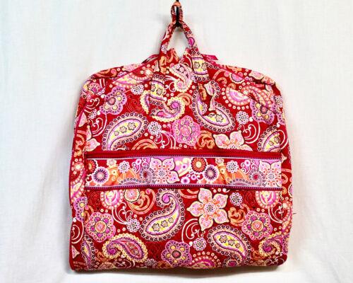 VERA BRADLEY Garment Bag in Raspberry Fizz Quilted Cotton