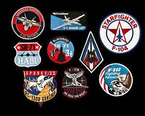 Lockheed USAF AC-130, F-22, U-2, SR-71, F-16, F-104, F-117 Aircraft Patches