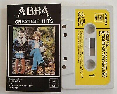 ABBA GREATEST HITS Rare 1976 UK Original Cassette Tape Album Yellow Epic 1st