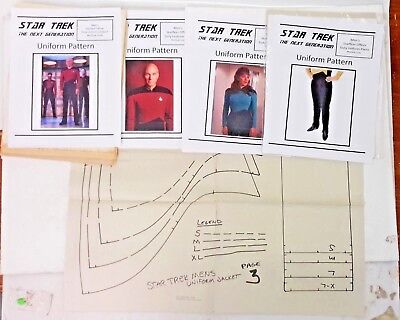 Star Trek Next Generation Uniforms (Vintage Star Trek Next Generation Uniform Pattern Muti-size--> Your)