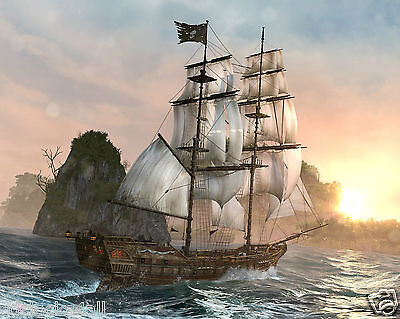 Pirate Ship 8 x 10 / 8x10 GLOSSY Photo Picture IMAGE #2