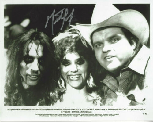 Meatloaf  autographed 8x10  photo with Alice Cooper