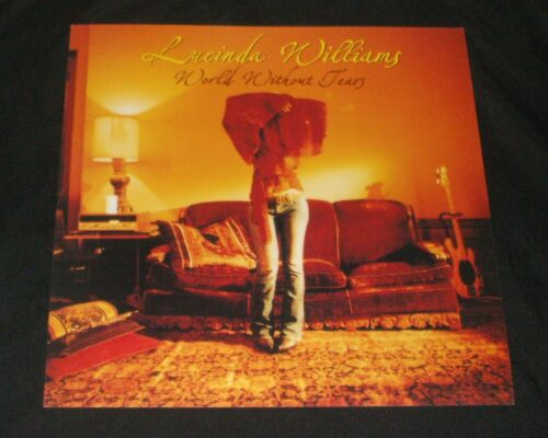 LUCINDA WILLIAMS World Without Tears PROMO POSTER FLAT 2003 album release
