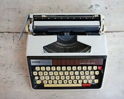 Mcm Office Typewriter Brother Deluxe 1350 Typewriter With Case