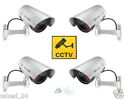 4x Dummy Überwachungskamera LED Fake Alarmanlage Attrappe Videoüberwachung CCTV