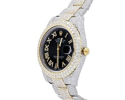 Rolex Datejust 2 Custom Diamond Watch 25 Carats of Diamonds Bezel