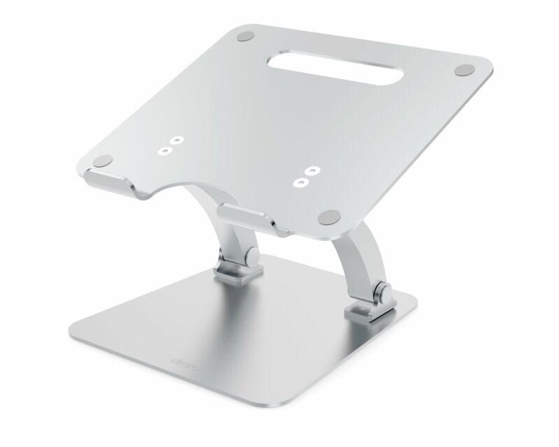 Desire2 Supreme Dual Pivot Adjustable Riser Stand for Laptops - Silver