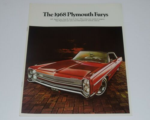 1968 Large Plymouth Fury Original Car Sales Brochure Catalog Canadian Market