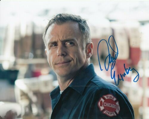DAVID EIGENBERG signed (CHICAGO FIRE) TV SHOW 8X10 *Christopher Hermann* W/COA F