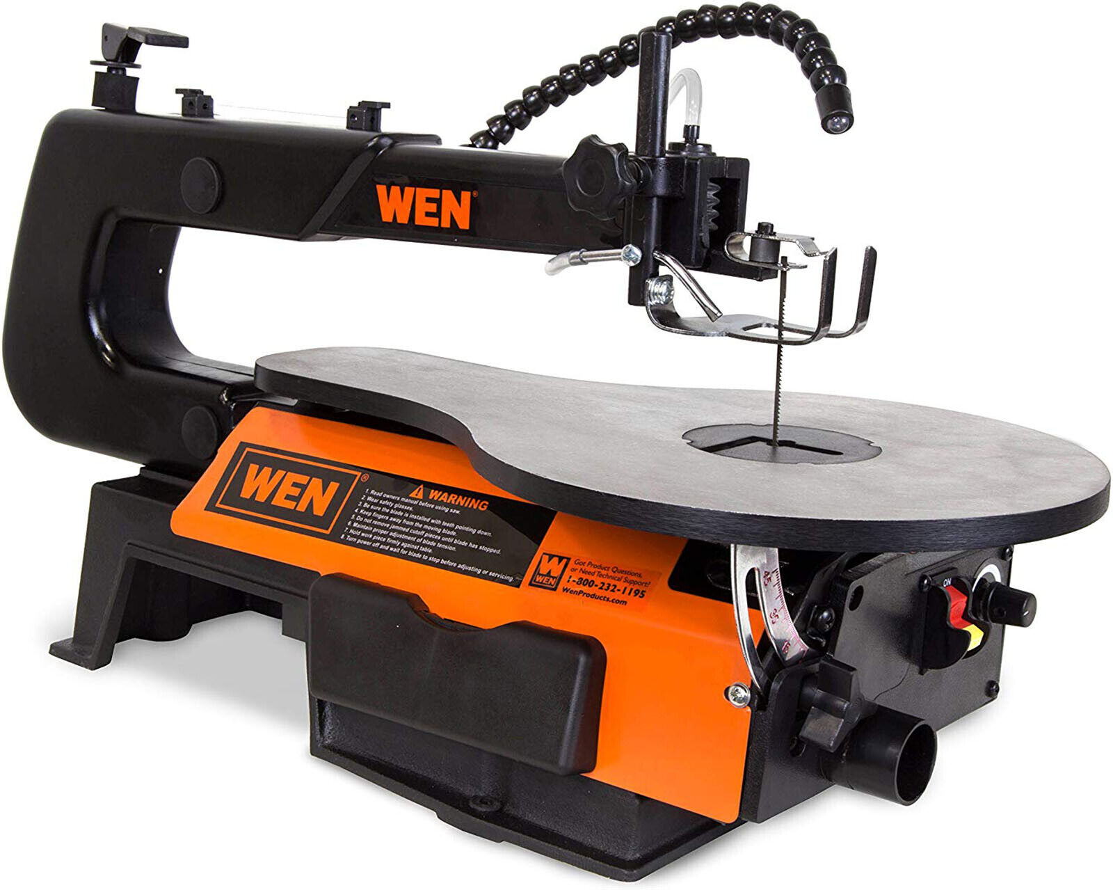 WEN Scroll Saw Two-Direction 550-1600 SPM Variable Speed 16-